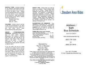 Appendix A Transit Schedule Addison to Bath - Appendix_A_Transit_Schedule_Addison_to_Bath