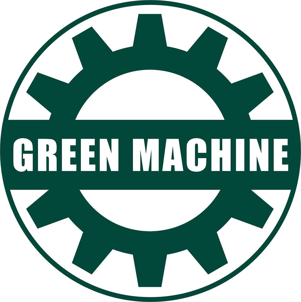 Green Cog Logo - Green Machine Athletics