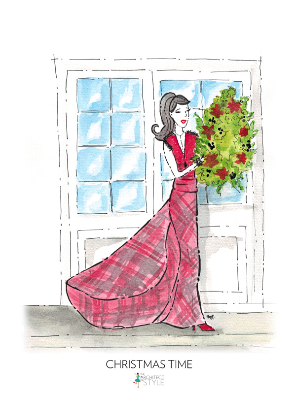 The Architect of Style Illustration - Christmas Time Fashion