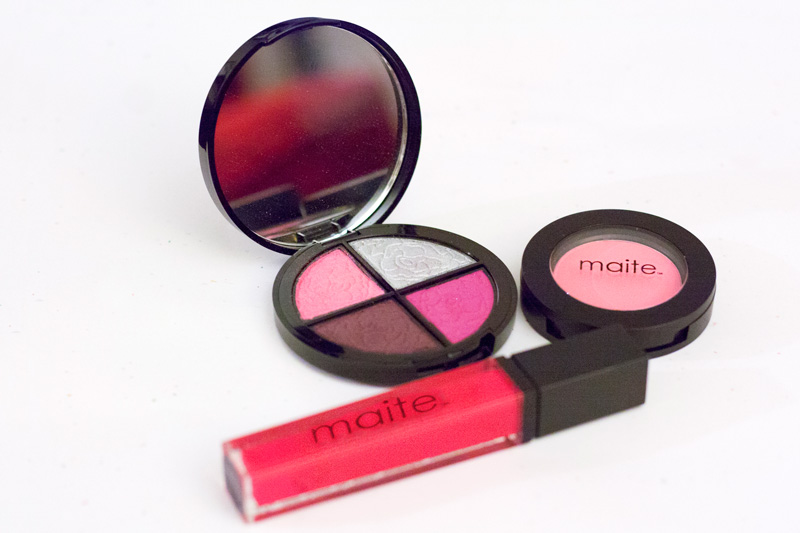 Quad Eye Shadow in Majestic Magenta, Tutu Blush & Exhibitionist Lip Gloss