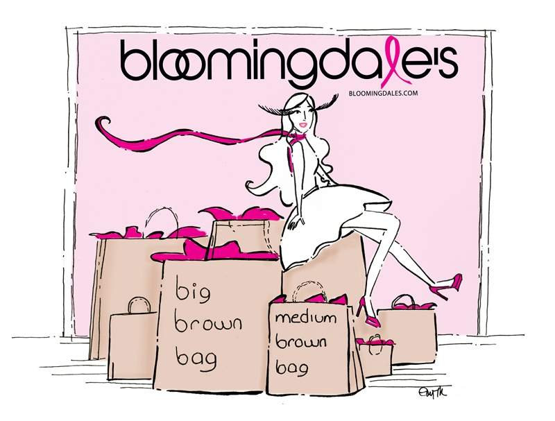 My Illustration for the Pink Party Event for Bloomingdale's