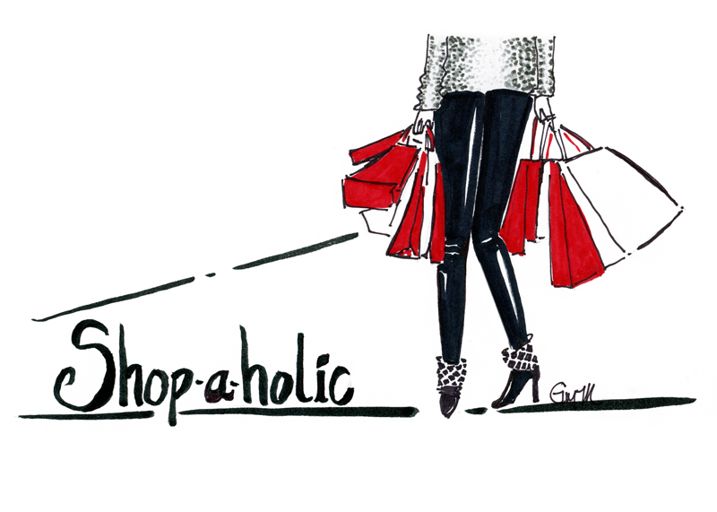 Shop-a-holic Print