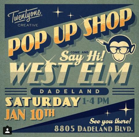 West-Elm Dadeland local pop-up shops January 2015 & March 2015