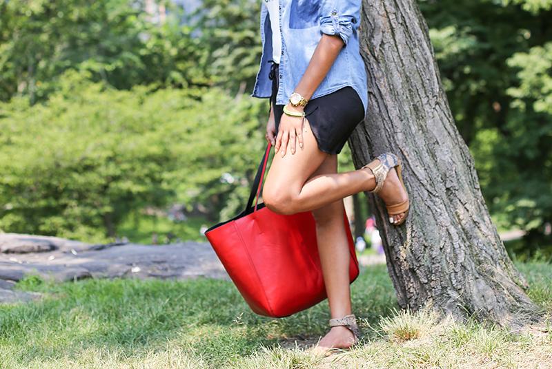 Love this reversible bag from Merona (Target)