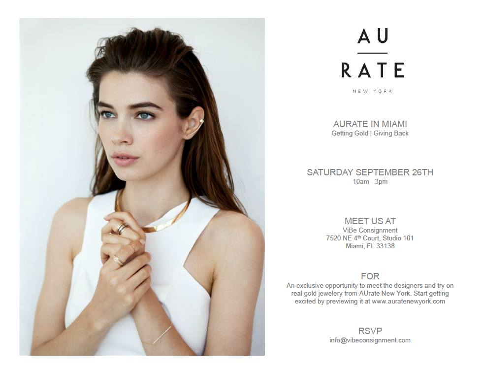 AuRate New York Trunk Show at ViBE Consignment