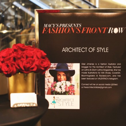 Headliner and Live presentation at Macy's Fashion Front Row Event - September 2015