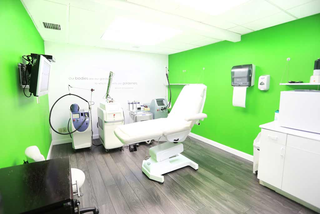 One of the treatment rooms at the Body Details Coral Gables Location