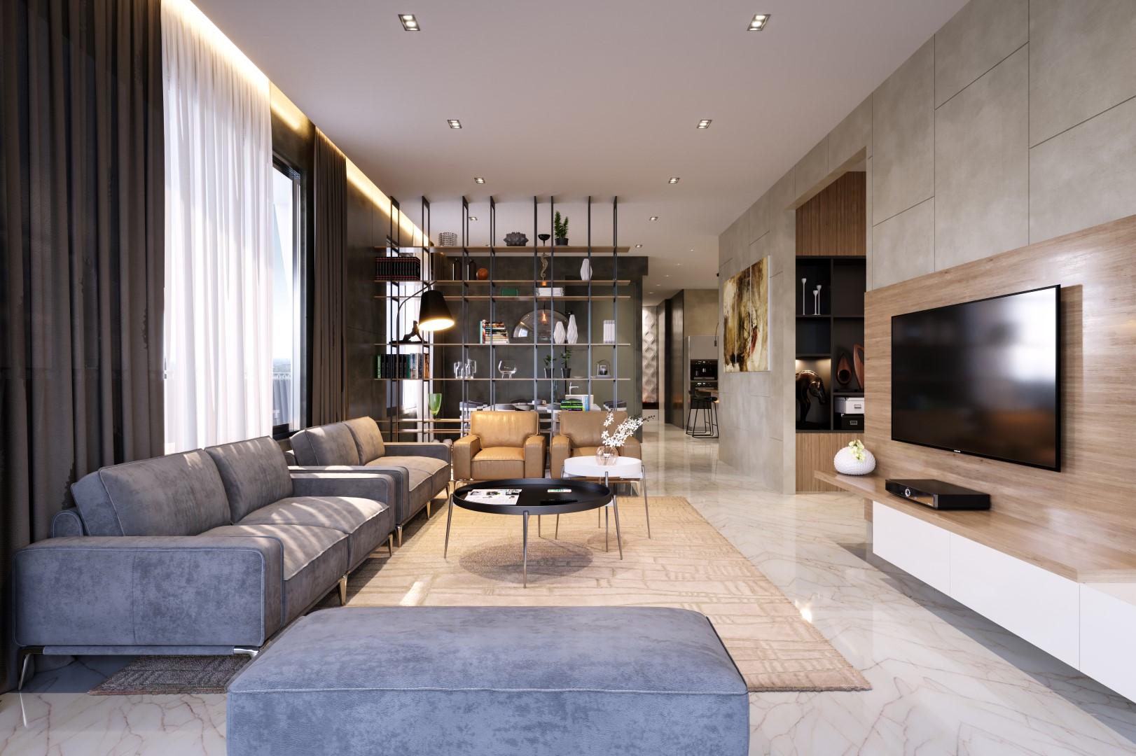 Living room modern design ahmedabad