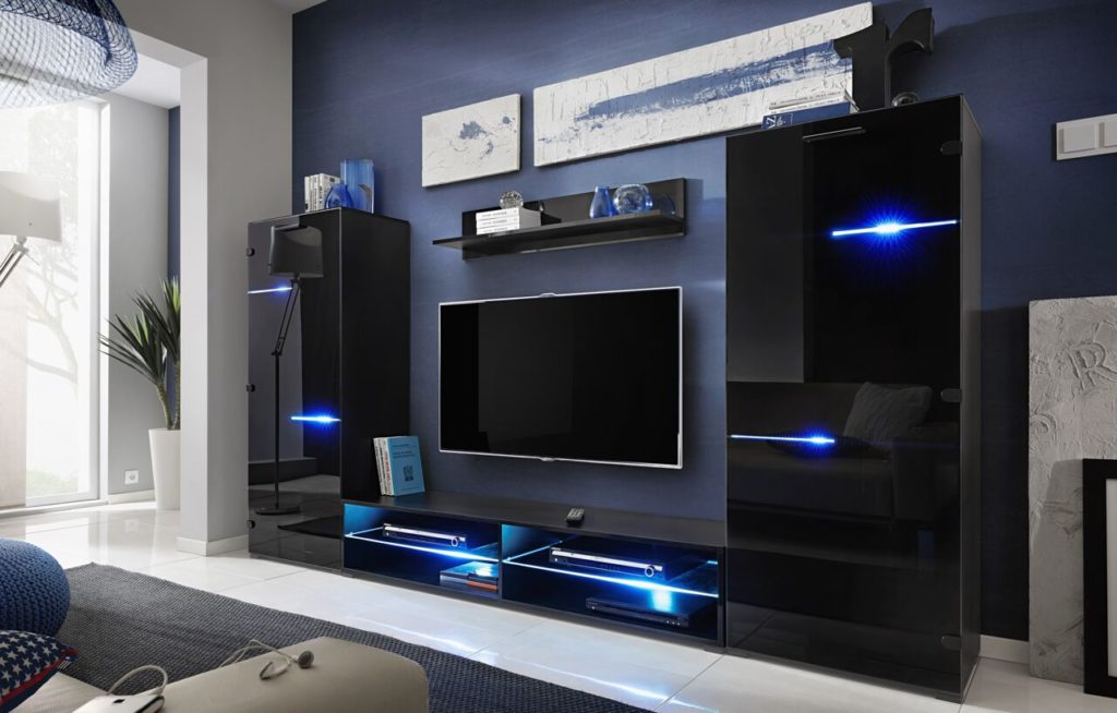 ideas to arrange led light in your tv unit