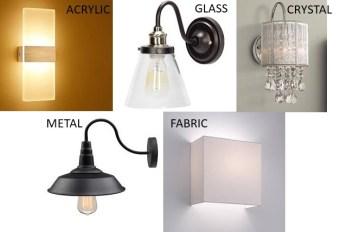 type of light fixtures-wall lights