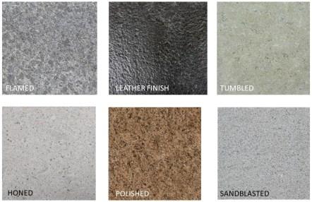 Granite flooring surface finish