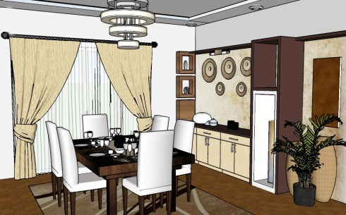 lighting the dining room