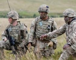 British Army Soldiers on Exercise