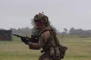 Sgt Green doing bayonet training - not good at writing