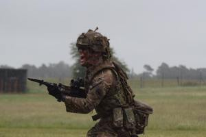 Sgt Green doing bayonet training