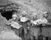 British Soldiers reading some leadership books