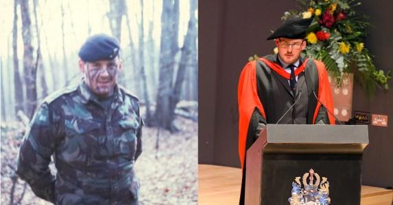 Gunner Tissington and Professor Tissington, seperated by 30 years