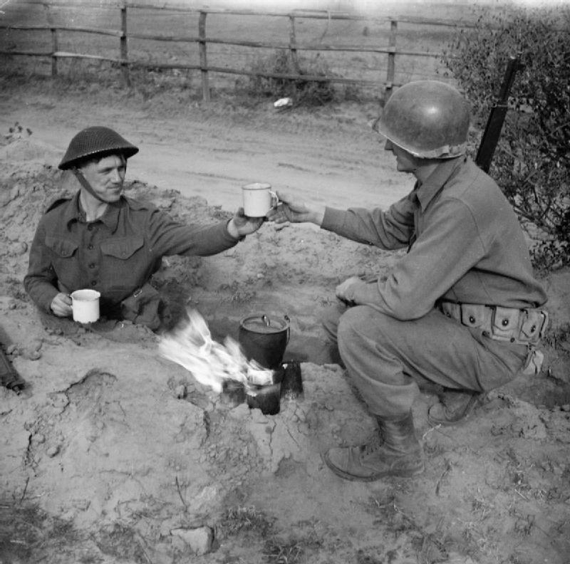Two soldiers try some Coffee and Clausewitz
