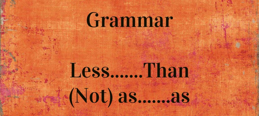 Arsenio's ESL Podcast: Season 2 – Episode 33 – Grammar – Less…..than, (not) as ……. as