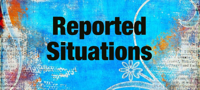 Arsenio's ESL Task: Reported Situations