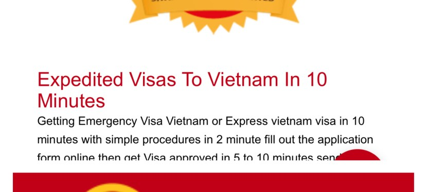Vietnam Visa Service Rating — 3 out of 10