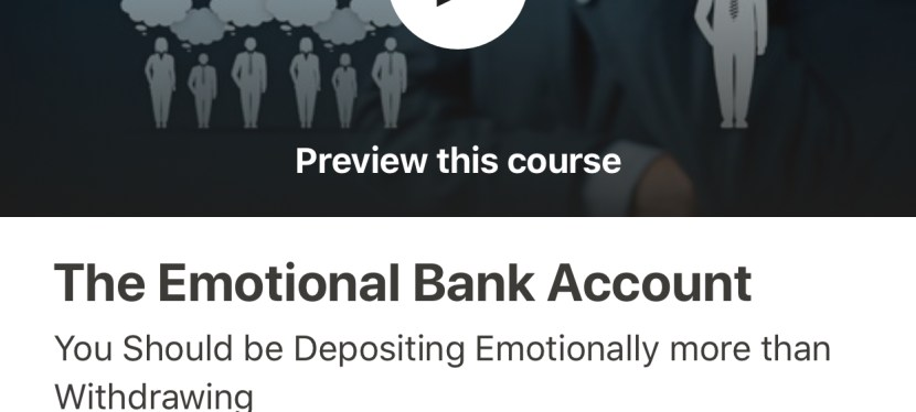 The Emotional Bank Account Course is Officially LIVE!
