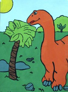 Dinosaur by Sage Kelner, Age 7