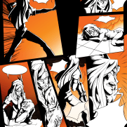 Lilliah Campagna, Instructor, Wordless Color Panel 2, Digital Graphic Novel Page