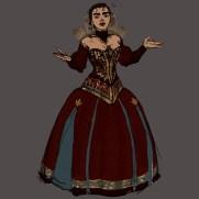 Mick Kaufer, Instructor, Dress Design Variation 4, Digital Costume and Character Design