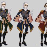 Mick Kaufer, Instructor, 18th Century Dandy, Digital Costume Design Variations