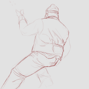 Lilliah Campagna, Instructor, 20 Minute Male Gesture Drawing, Digital Life Drawing