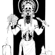 Lilliah Campagna, Instructor, Goddess 1, Digital Black and White Illustration
