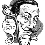 David Witt, Instructor, Famous Last Words - Salvador Dali, Pen & Ink Drawing