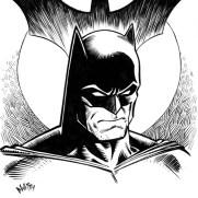 David Witt, Instructor, Brooding Batman, Pen & Ink Character Study