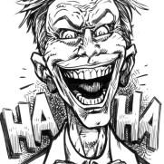 David Witt, Instructor, Cackling Joker, Pen & Ink Character Study