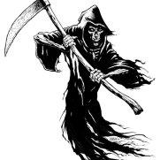 Bill Hauser, Instructor, Grim Reaper, Pen & Ink Character Study