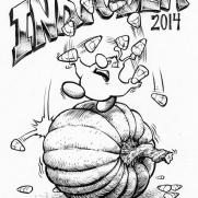 David Witt, Instructor, DWitt's Inktober - 2014, Pen & Ink Book Cover