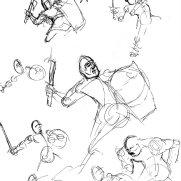 Alex Pederson, Age 17, Thumbnail Gesture Studies