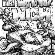 David Witt, Instructor, SANDWICH #1 Zine Cover, Pen & Ink & Brush on Paper