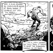 David Witt, Instructor, Morning Coffee Daily Comic Strip Page, Pen & Ink & Brush on Paper