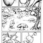 David Witt, Instructor, Newton's Apple? Comic Strip - Part 1, Pen & Ink & Brush on Paper