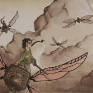 Lilliah Campagna, RHUPA Clukerbug Chase, Age 18, Original Visual Development Watercolor Design