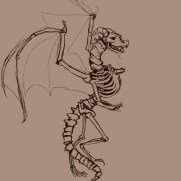 Mick Kaufer, Dragon Skeleton, Digital Drawing