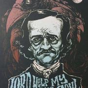 David Witt, Instructor, Famous Last Words - Edgar Allen Poe, Screenprint