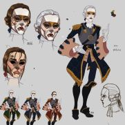 Mick Kaufer, Instructor, 18th Century Dandy, Digital Character Design Sheet
