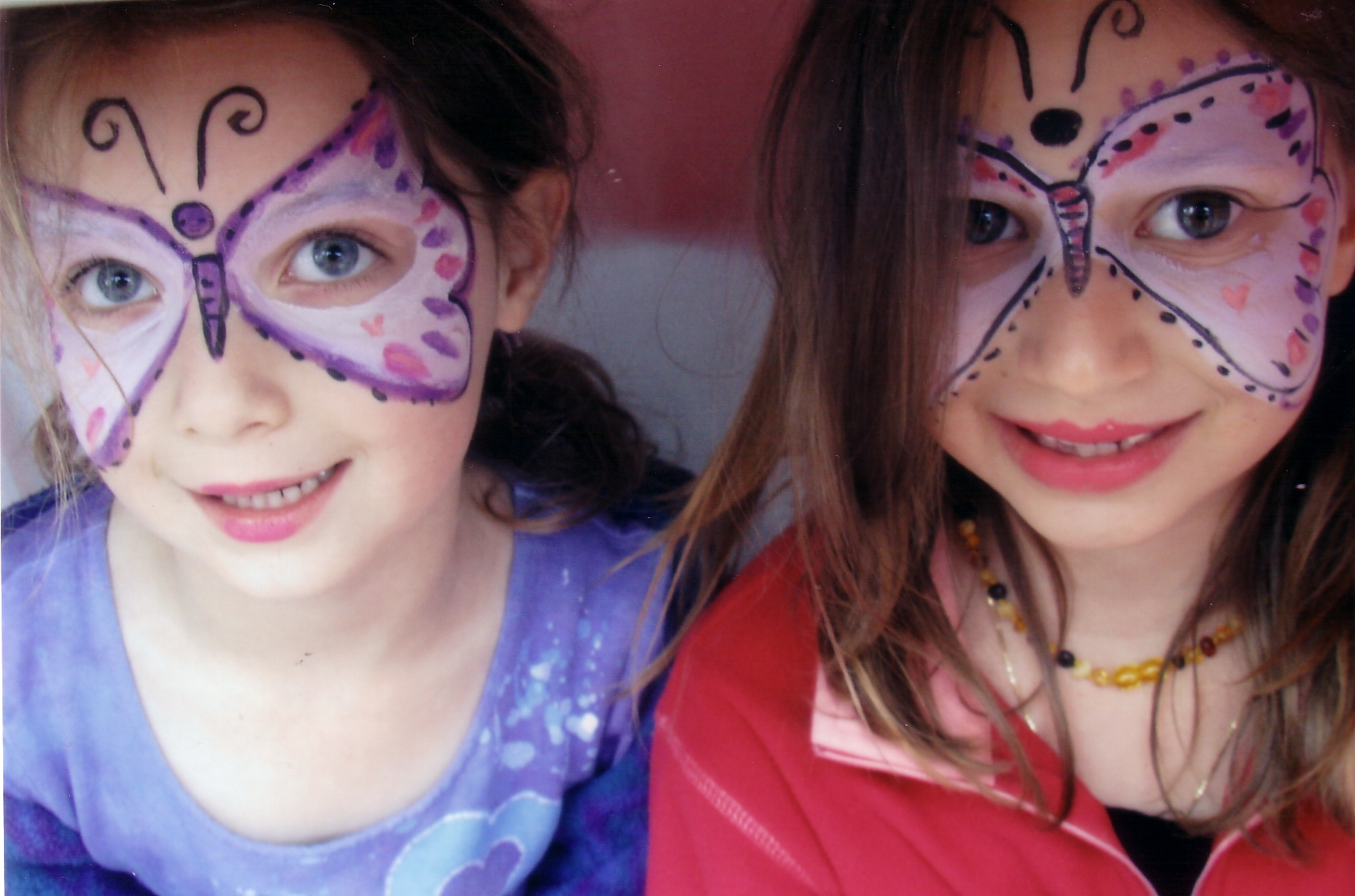Painted Butterfly Faces by The Art Angel Bethann Shannon