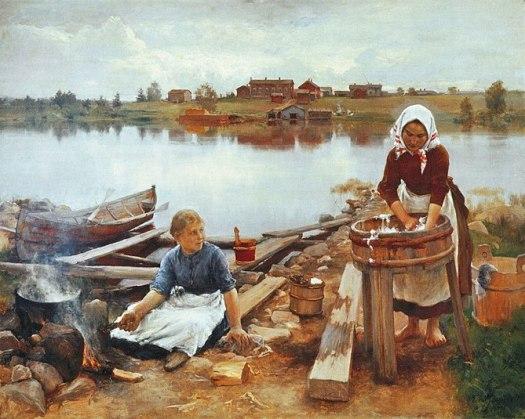 Eero Järnefelt, painting Pyykkiranta 1889