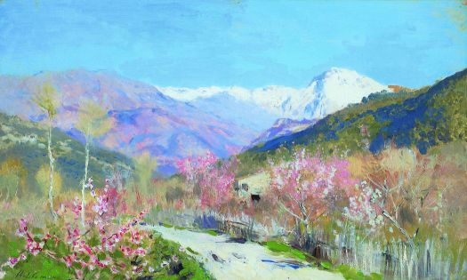 """Spring in Italy,"" by Isaac Levitan"