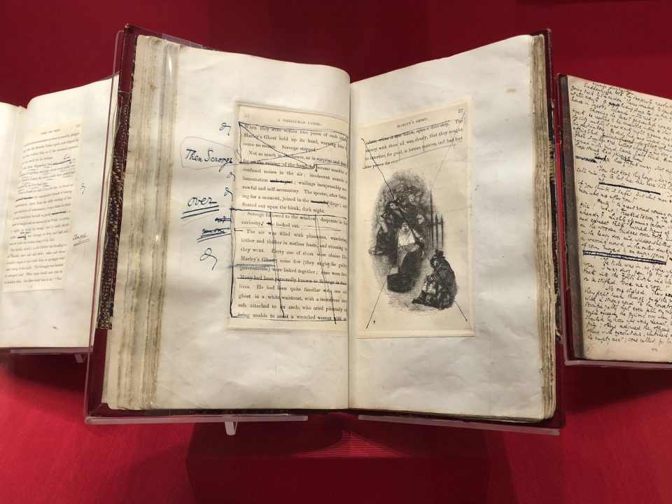 Charles Dickens's own reading copy of A Christmas Carol for public readings, T. Vatrt image