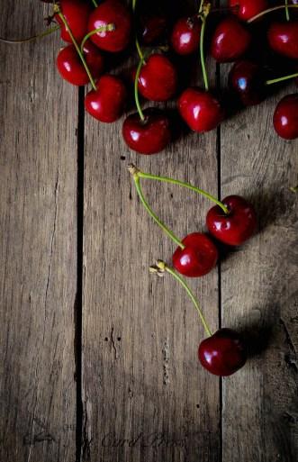 Cherries on wood 1